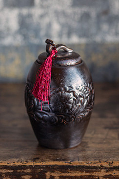Ancientry Pot with Red Tassle