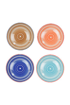Geometric Print Ceramic Bowls - Large