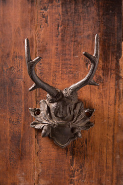 Antiqued Black Pewter Antler Hook