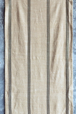 Cotton Runner with Black Stripe