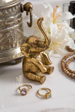 Pewter Elephant Ring Holder