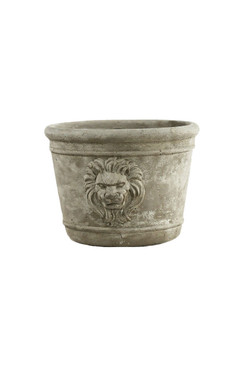 Lion Head Cement Planter