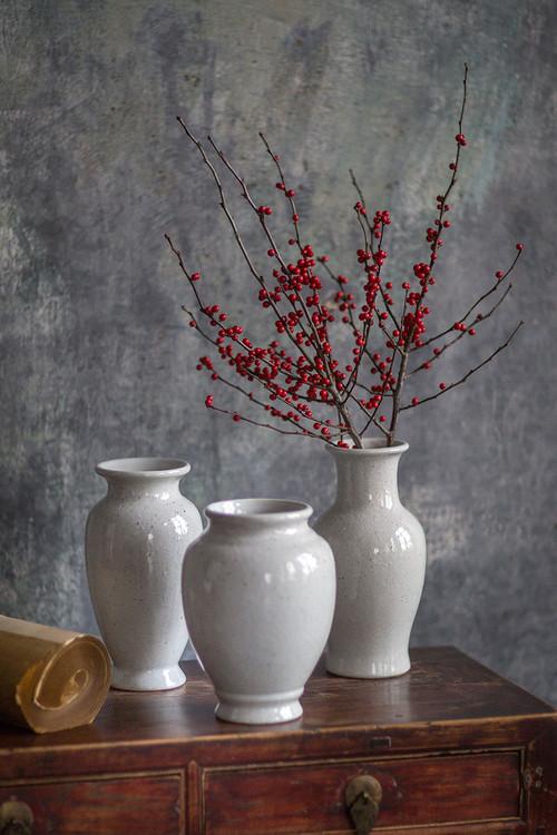 Ceramic White Vases Mothology