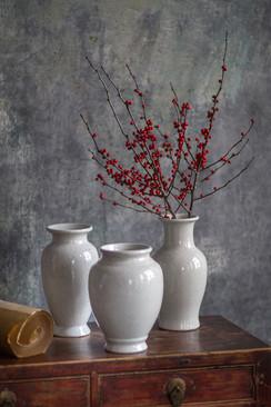 Ceramic White Vases