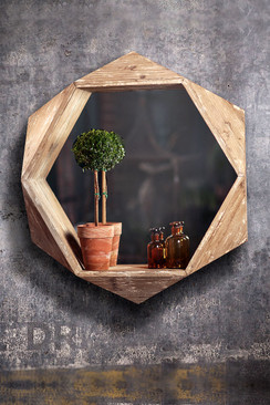 3D Wooden Quad Mirror