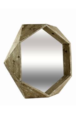 3D Wooden Quad Mirror