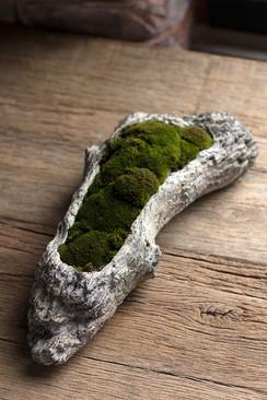 Faux Bois Cement Log Planter - XLarge
