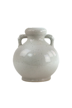 Ceramic White Vase with Handles