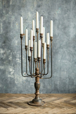 Black Iron Candelabra