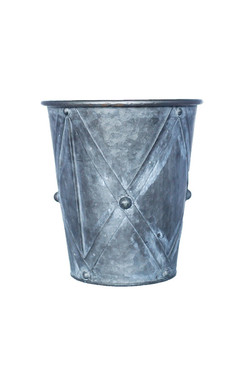 Zinc Drum Planters - Set of 3