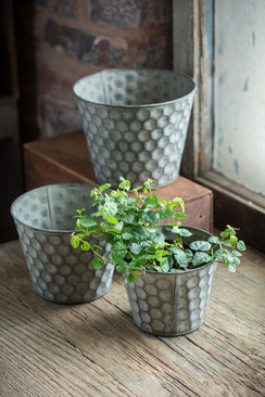 Honeycomb Pattern Pots - Set of Three
