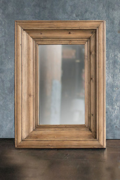 Rectangle Solid Pine Wood Frame Mirror