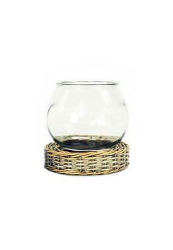 Glass and Wicker Terrarium - Large