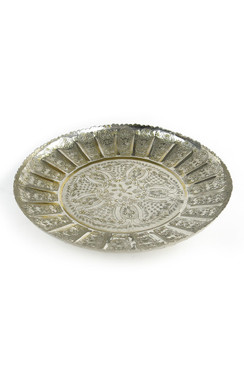Vintage Moroccan Scalloped Tray