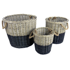 Willow Dipped Black Basket Set