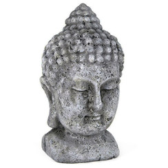 Cement Buddha Head Statue