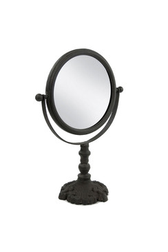 Round Cast Iron Pivoting Mirror
