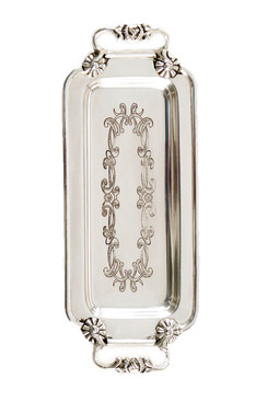 Silver Plated Etched Tray