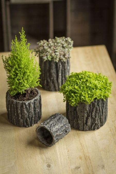 Concrete Pots With Bark Like Detailing Mothology Com