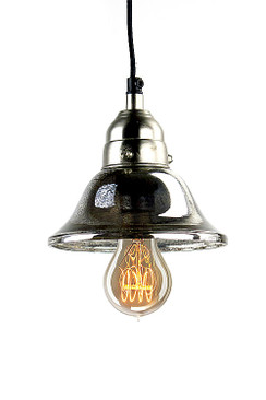 Bell Shaped Mercury Glass Lamp