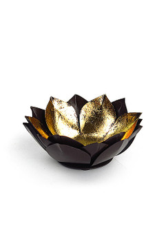 Gold Leafed Metal Lotus Bowls