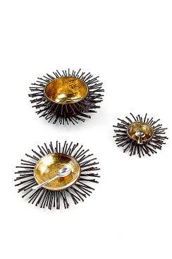 Iron and Gold Leaf Sea Urchin