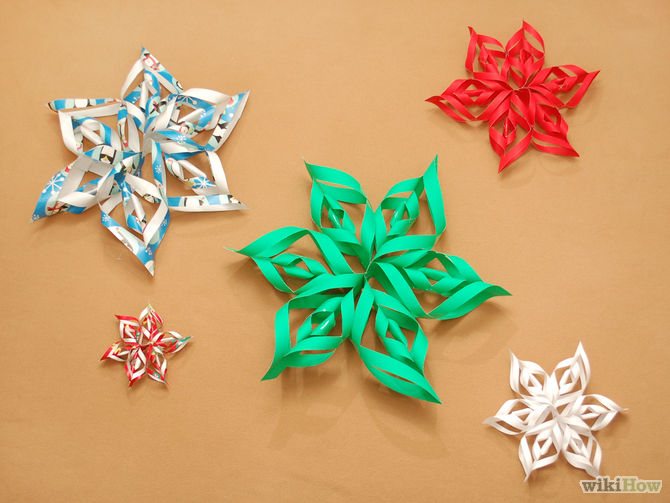3D Paper Snowflake Christmas Craft