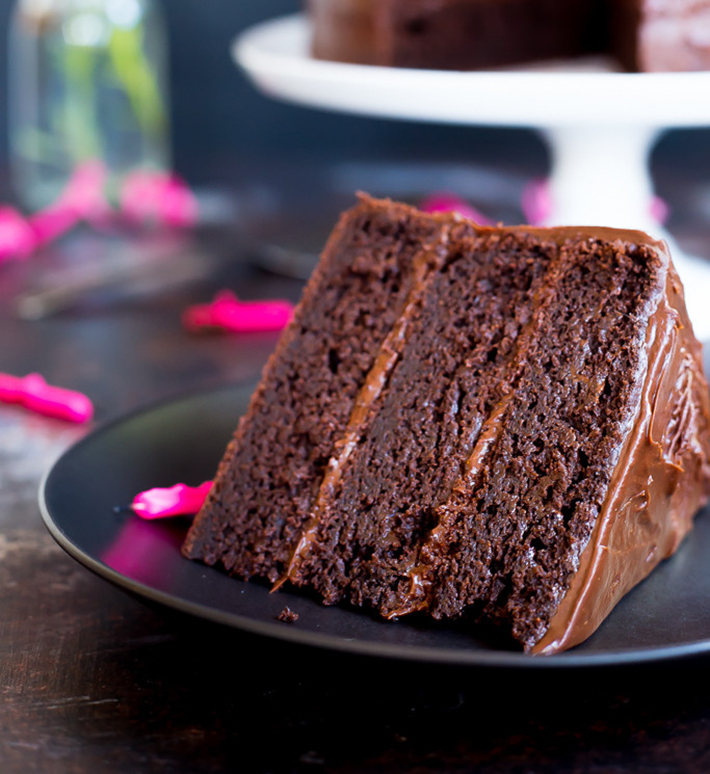 Gluten-Free Three-Layer Chocolate Cake
