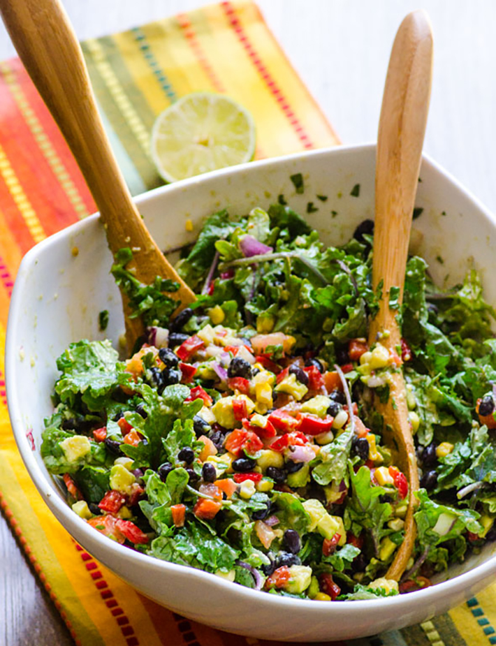 vegetarian-picnic-foods-healthy-mexican-kale-salad