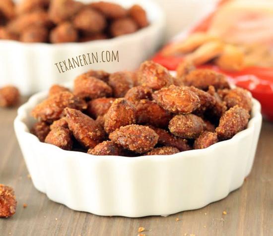 Cinnamon Maple Candied Almonds