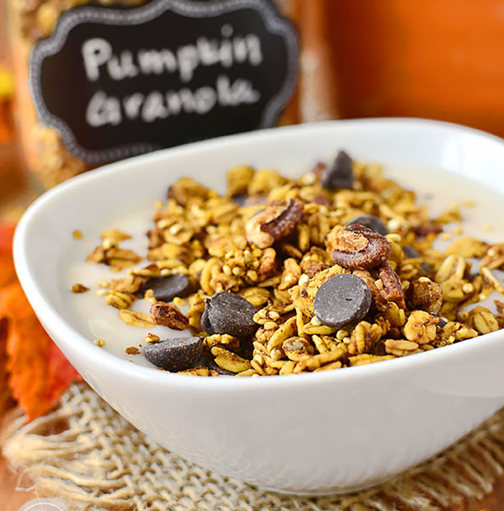 Pumpkin Spice Chocolate Granola