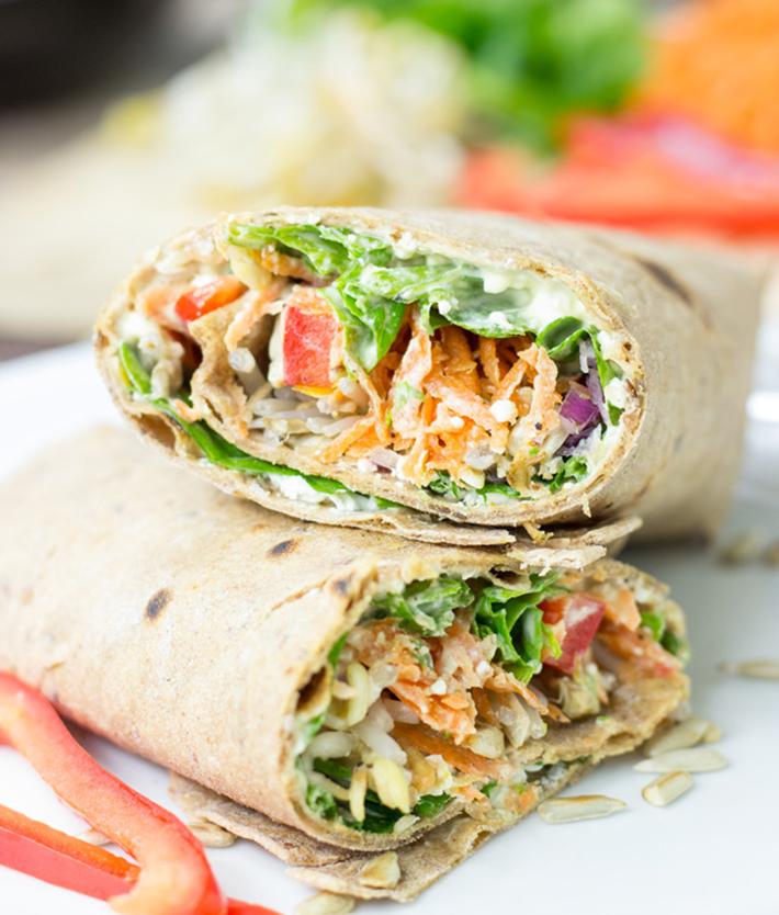 vegetarian-picnic-foods-tangy-veggie-wrap