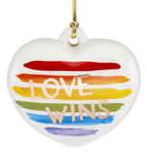 Lenox Love Wins Heart Ornament 2020
