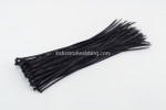 "4.8 x 17"" Black Nylon Tie-Wraps by Industrial Webbing Corp 50lbs. tensile strength 100 ct bag"