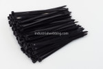 "7.6 x 8"" Black Nylon Tie-Wraps by Industrial Webbing Corp 50lbs. tensile strength 100 ct bag"