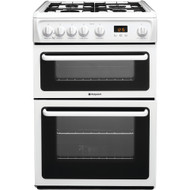 Hotpoint HAG60P Gas Cooker with Variable Gas Grill - Polar White - GRADED