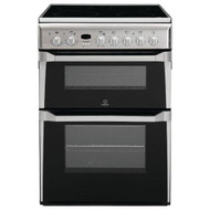 Indesit Advance ID60C2XS Electric Cooker with Ceramic Hob - Stainless Steel - B/B Rated - GRADED