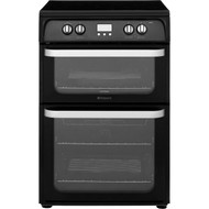 Hotpoint Ultima HUI614K Electric Cooker with Induction Hob - Black - A/A Rated - GRADED