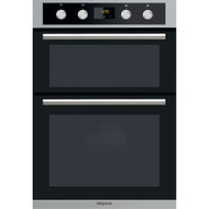 Hotpoint DD2 844 CIX Electric Built-in Double Oven - Stainless Steel & Black - GRADED