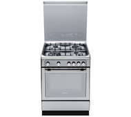 Hotpoint DHG65SG1CX Gas Cooker - Stainless Steel