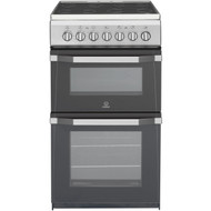 Indesit Advance IT50C1S Electric Cooker with Ceramic Hob - Silver - GRADED