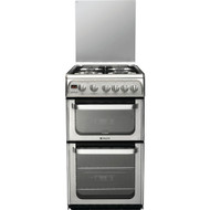 Hotpoint HUG52X Double Oven Gas Cooker - Stainless Steel - GRADED