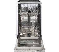 Stoves SDW45 Slimline Integrated Dishwasher - Silver - GRADED