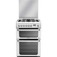 Hotpoint HUD61PS Dual Fuel Cooker - White - GRADED