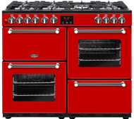 Belling Kensington 100DFT Dual Fuel Range Cooker - Red - GRADED