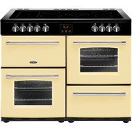 Belling Farmhouse110E 100cm Electric Range Cooker with Ceramic Hob - Cream - A/A Rated - GRADED
