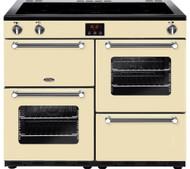 Belling Kensington 100Ei Electric Induction Range Cooker - Cream & Chrome - GRADED.