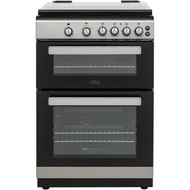 Belling FSG608Dc Gas Cooker with Full Width Electric Grill - Silver - A+/A Rated - GRADED
