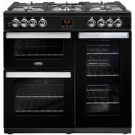 Belling Cookcentre 90DFT Dual Fuel Range Cooker - Black - GRADED