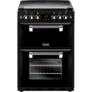 Stoves Richmond600G Gas Cooker with Full Width Electric Grill - Black - A/A Rated - GRADED.